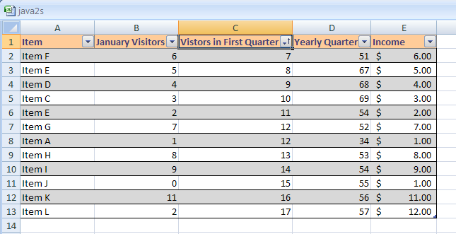how to order information across multiple columns in excel