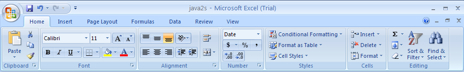 The Ribbon replaces menus, toolbars, and most of the task panes found in Excel 2003