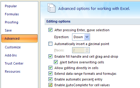 advanced ms excel 2007 tutorial pdf