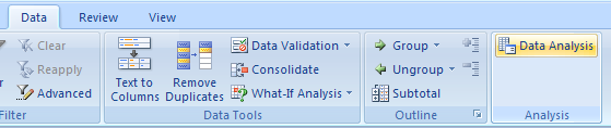 Use Data Analysis Tools