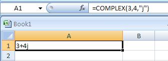 =COMPLEX(3,4,