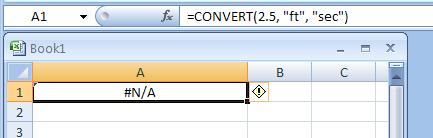 =CONVERT(2.5,