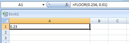 =FLOOR(0.234, 0.01)