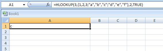 =HLOOKUP(3,{1,2,3;