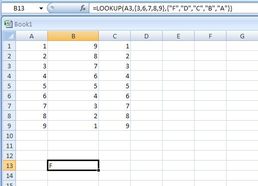 =LOOKUP(A3,{3,6,7,8,9},{