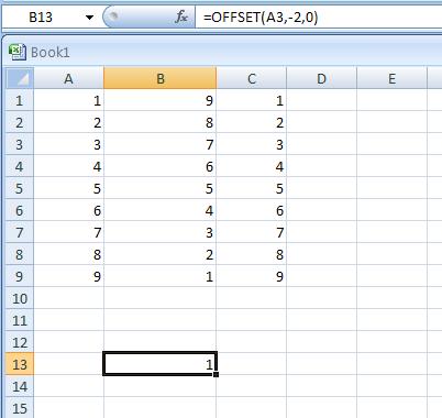 =OFFSET(A3,-2,0)