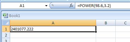 =POWER(98.6,3.2)