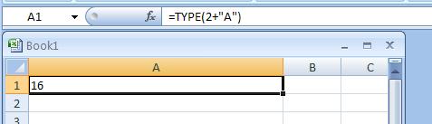 =TYPE(2+