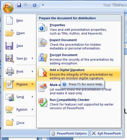Add a Digital Signature to a Document