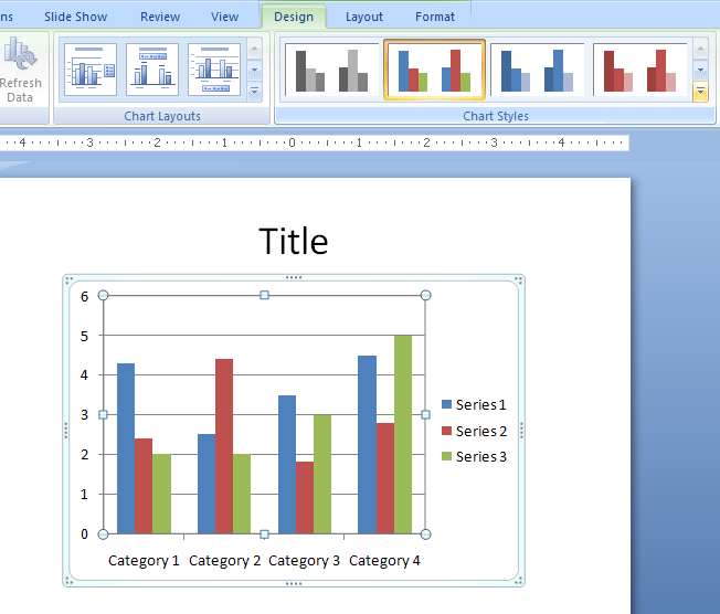 Chart chart table microsoft office powerpoint 2007 tutorial apply a chart style apply a chart style toneelgroepblik Image collections
