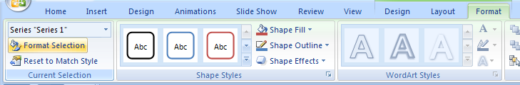 Change a Chart Object Style