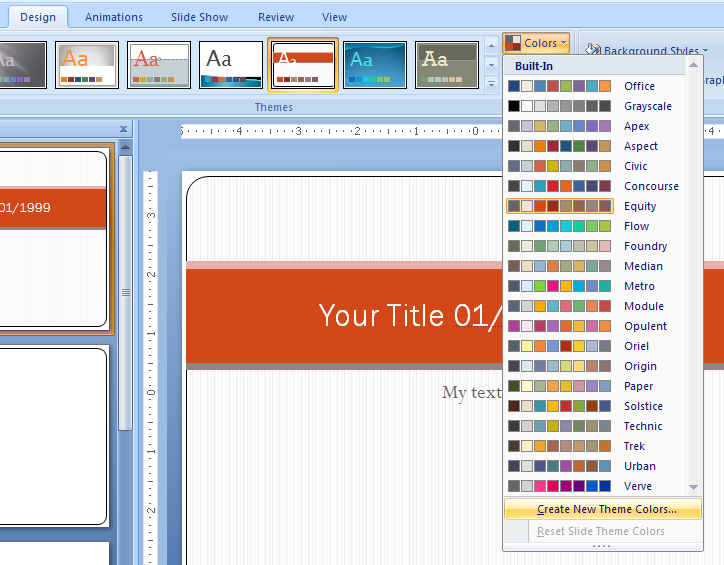 theme for powerpoint 2007