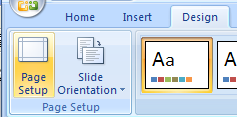 Change Slide Orientation