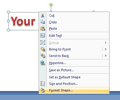 Change WordArt Text Direction