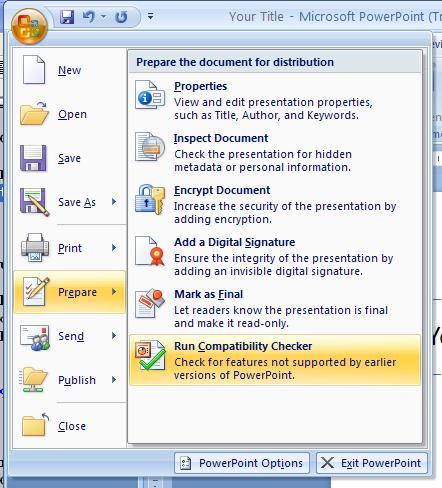 Check Presentation Compatibility