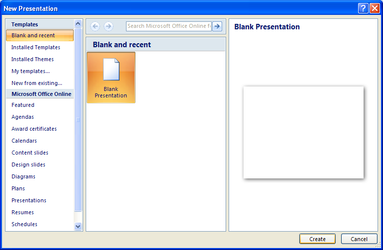 Microsoft Office Presentation Template