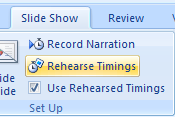 Create Timings Through Rehearsal