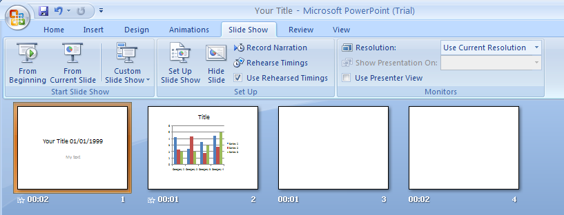 power point lesson previewing rehearsing and In this lesson, we'll begin with a brief introduction to creating animations in powerpoint 2010 and then we'll learn how to animate bullet and numbered lists, shapes, smart art, and even charts so there's a lot to do.