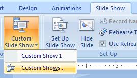 Delete a custom slide show