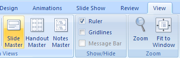 Delete a slide master