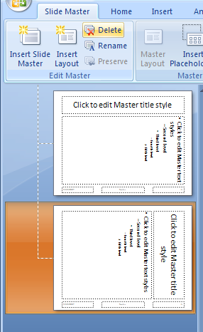 Select the slide master in the left pane, click the Delete button in the Edit Master group