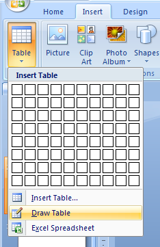 Draw a Table