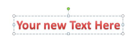 Edit WordArt Text