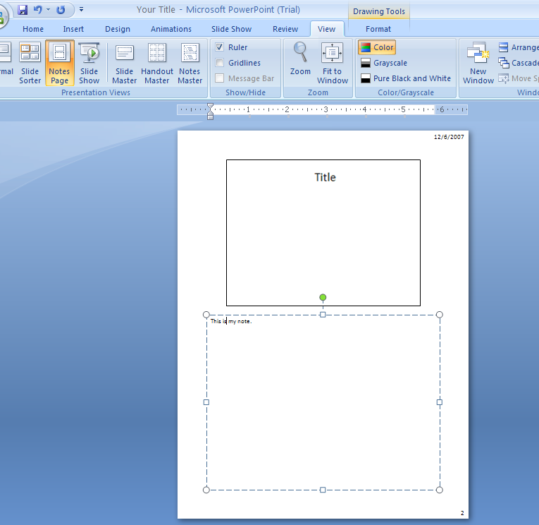 how to read notes on powerpoint