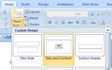 Insert a Clip Art Image Using a Slide Layout