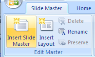 Click the Insert Slide Master button.