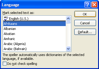 Click the foreign language, and then click OK.