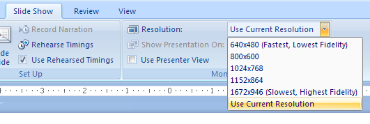 Present a Slide Show On Two Monitors in Presenter View