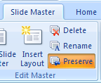 Use the Preserve button to toggle it on and off.