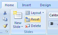 Reset a placeholder position back to the default location