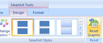 Reset a SmartArt graphic to its original state