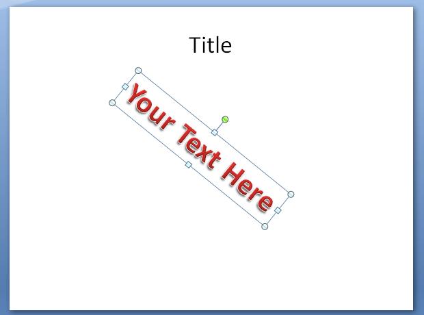 Rotate WordArt Text