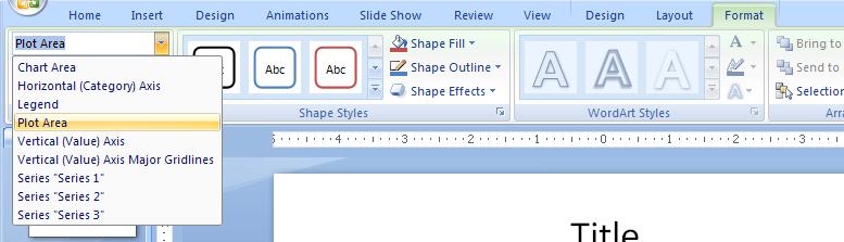 Select a Chart Object