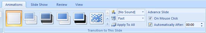 Set Timings Between Slides