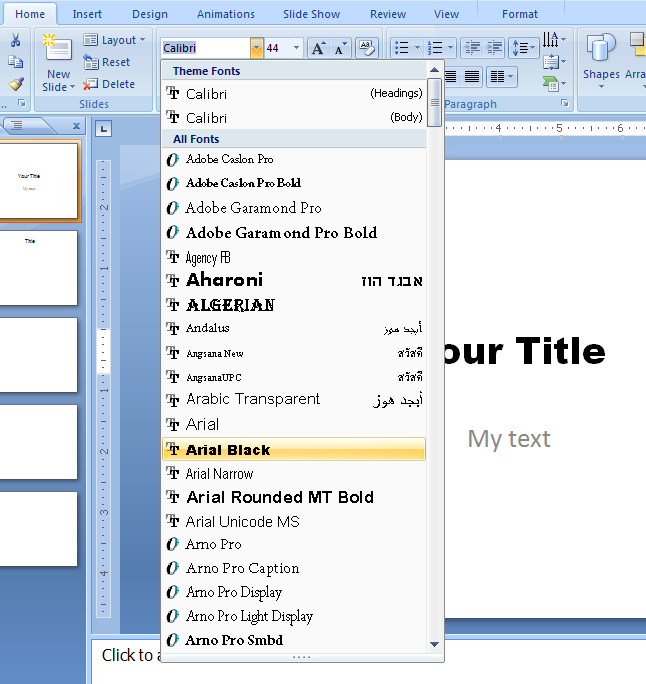 how to select all periods in word and change size