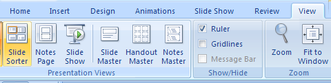 View a slide's transition in Slide Sorter view