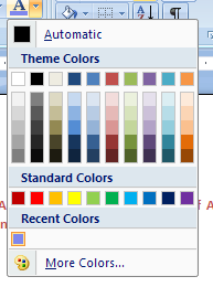 And the new color is added to the Recent Colors section.