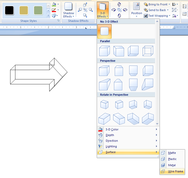 how to change the shape of a picture in word