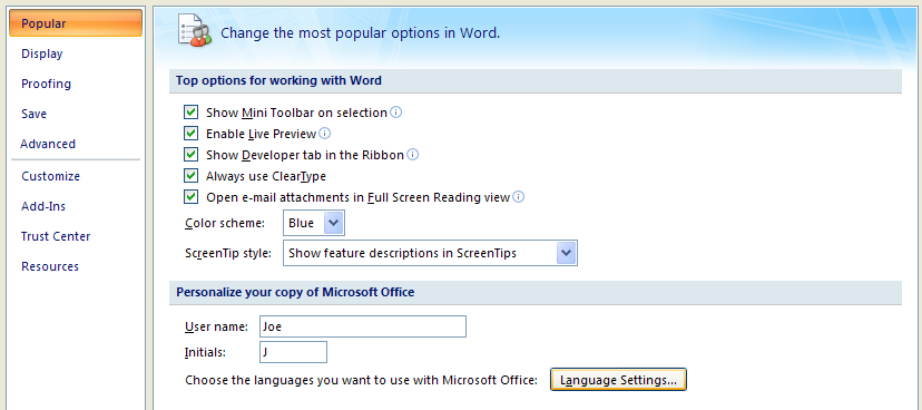 Then click Language Settings.