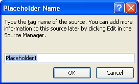 Then type a placeholder name