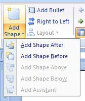 Or click the Add Shape button arrow
