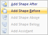 Then select the position where you want to insert a shape.