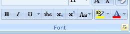 then Click the Font Dialog Box Launcher.
