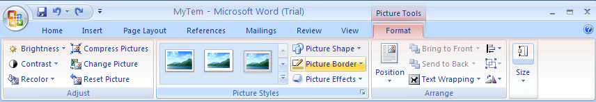 Click the Format tab under Picture Tools.
