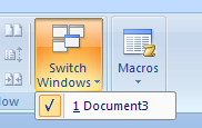 Click Switch Windows, and then click the document name you want.