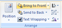 Click the Bring to Front button arrow